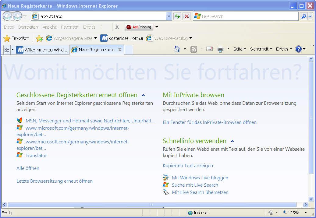 Internet Explorer Kompatibilitätsmodus