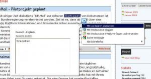 IE8 - Schnellansicht Übersetzung