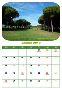 Unser Jahreskalender 2010