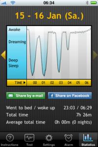 iPhone App Sleep Cycle - Aufzeichnungen einer Nacht