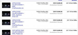 ebay Verkauf einer iPad-Domain