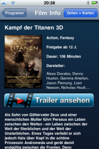 Cineplex App - Beschreibung & Trailer
