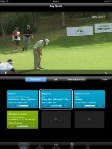 Sky Sport App - Liveprogramm