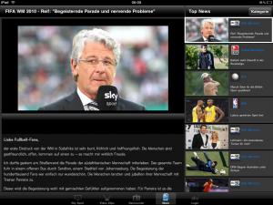 Sky Sport App - Videoportal