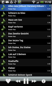 Audiobox.fm - Android App Musikliste
