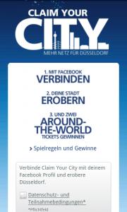 O2 Gewinnspiel - Claim your City