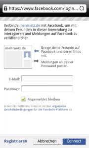 Claim your City - mit Facebook verknüpfen