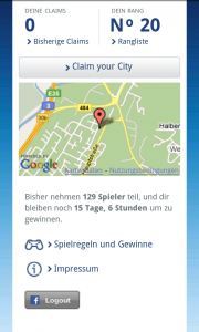 Claim your City - Standort claimen