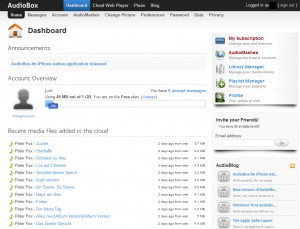 AudioBox.fm - Dashboard