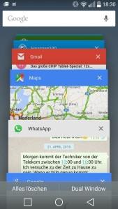 Android 5.0 - Übersicht der laufenden Apps