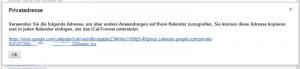 Google Kalender URL