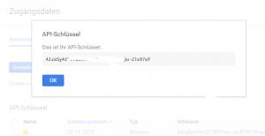 Generierte API Schlüssel
