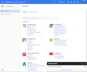 Google API Übersicht