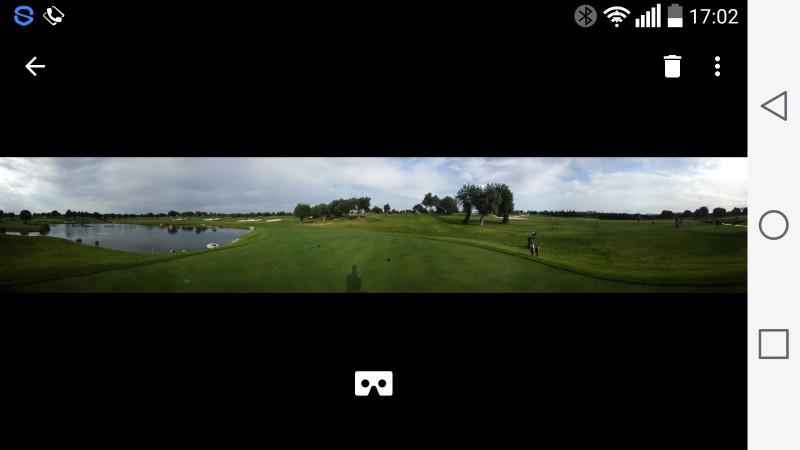 Auswahl einer Aufnahme und Darstellung als Panorama Bild