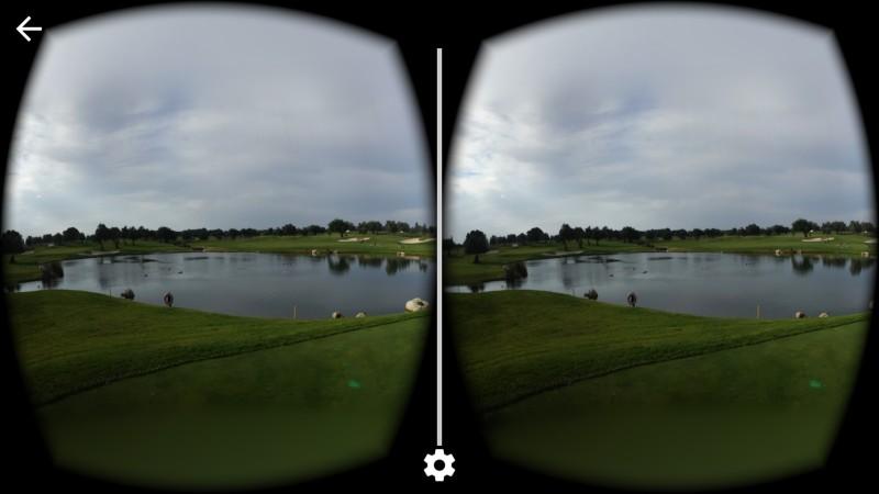 Ein mit der Cardboard Cam aufgenommenes Bild in VR-Darstellung