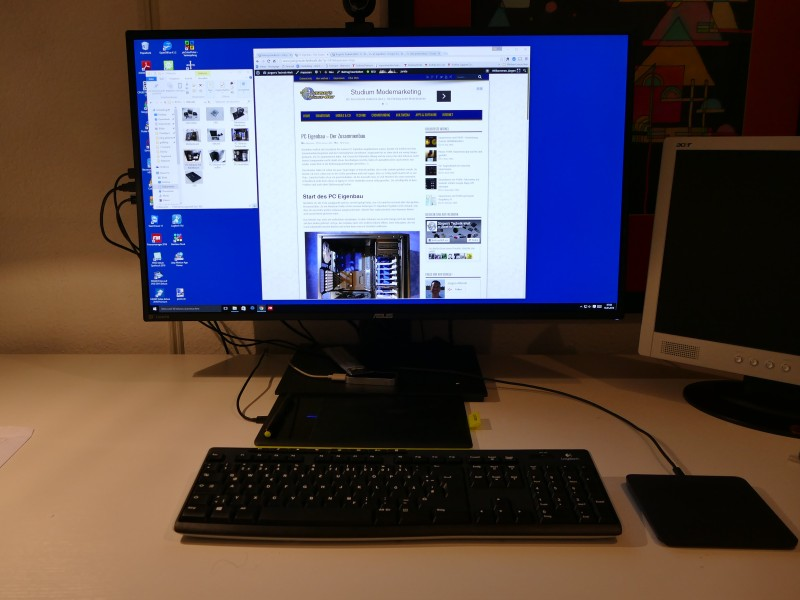 PC Eigenbau: Der Monitor im Einsatz