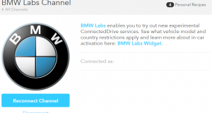 ifttt Channel aus den BMW Labs