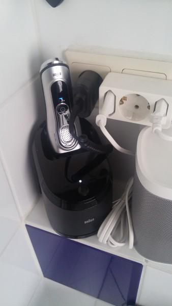 Mein Testgerät im Badezimmer