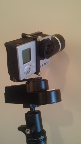 Action Gimbal mit GoPro im Einsatz