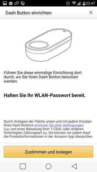 Dash Button über Smartphone App einrichten