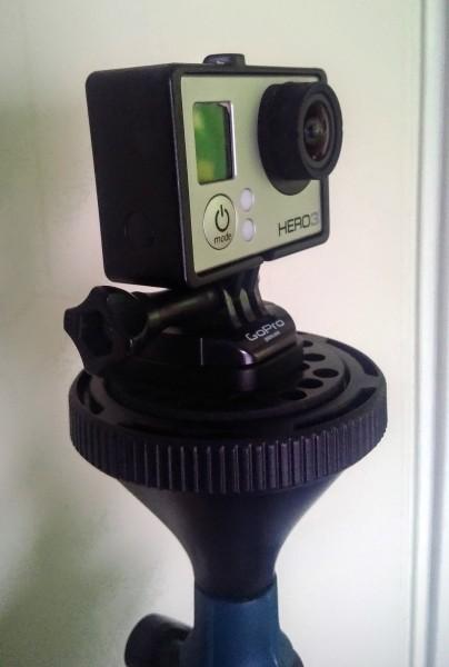 GoPro auf dem solidLUUV Stabilizer montiert